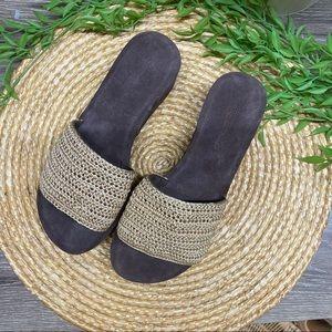 Jeffrey Campbell Mix-Up Platform Slide Sandals